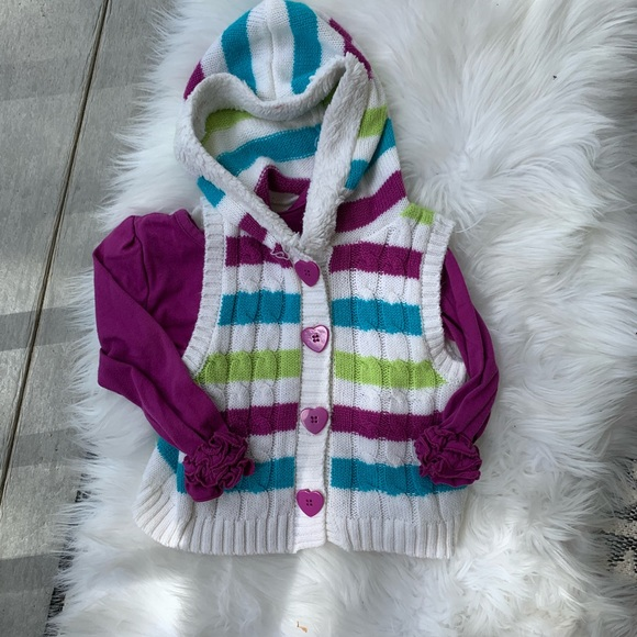 Little Lass Sweater Vest and matching Top 3T